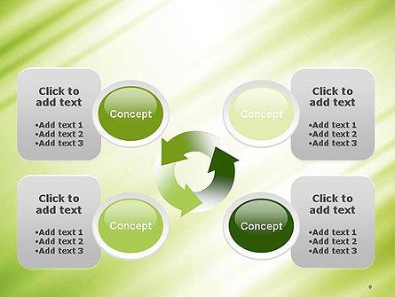 Green Diagonal Motion Blur Abstract PowerPoint Template Slide 9
