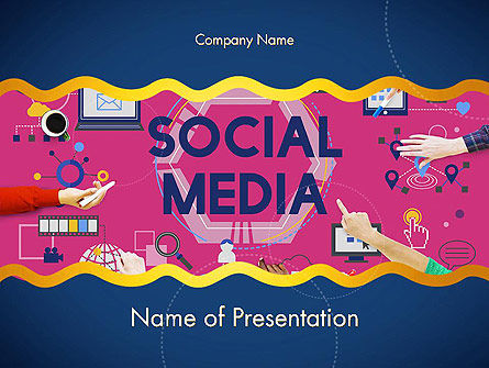 Social Media Technology Innovation Concept PowerPoint Template, 14370, Careers/Industry — PoweredTemplate.com