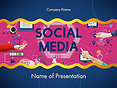 Social Media Technology Innovation Concept PowerPoint Template#1