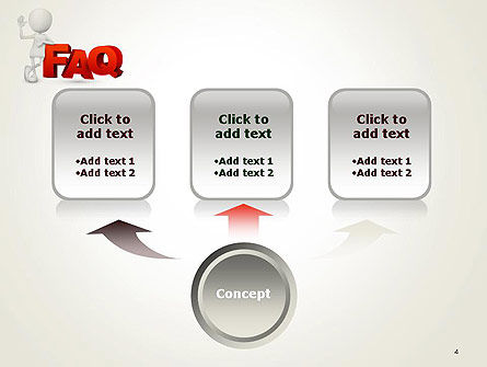 3D Small Person Standing Next to FAQ PowerPoint Template Slide 4