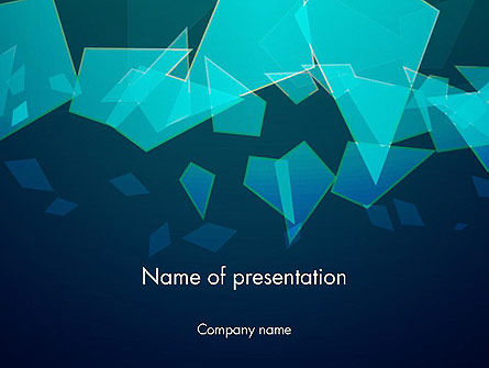 Glass Shards Abstract Powerpoint Template, Backgrounds | 14373