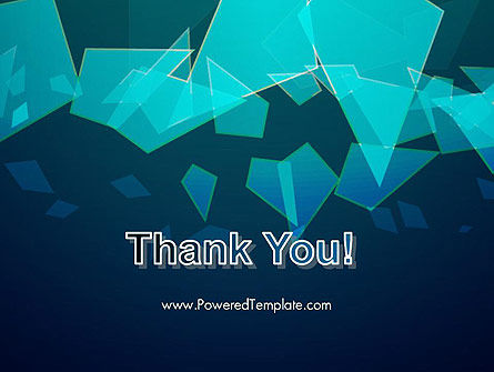 Glass Shards Abstract PowerPoint Template Slide 20