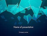 Abstract/Textures: Modèle PowerPoint de abstrait des fragments de verre #14373