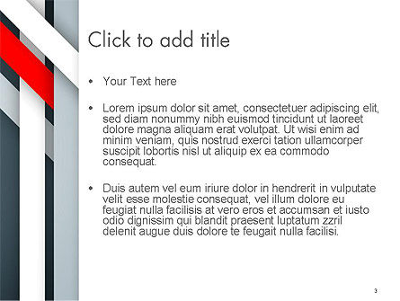 Angle Twisted Border PowerPoint Template, Slide 3, 14375, Abstract/Textures — PoweredTemplate.com