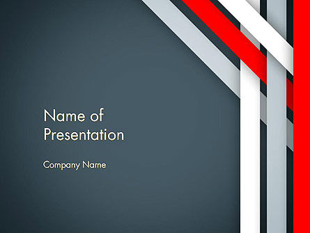 Abstract/Textures: Angle Twisted Border PowerPoint Template #14375