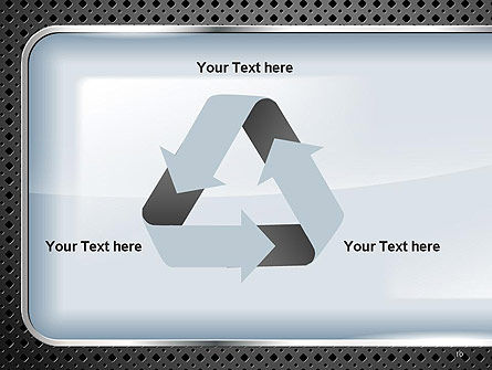 Perforated Metallic Surface with Plate Abstract PowerPoint Template Slide 10