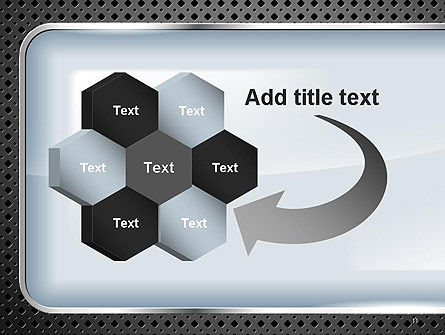 Perforated Metallic Surface with Plate Abstract PowerPoint Template Slide 11