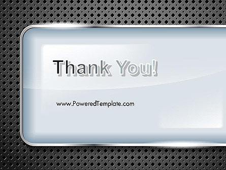 Perforated Metallic Surface with Plate Abstract PowerPoint Template Slide 20