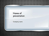 Abstract/Textures: Perforated Metallic Surface with Plate Abstract PowerPoint Template #14377