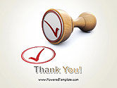 Checked Rubber Stamp PowerPoint Template#20
