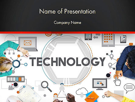 Innovative Business Technology PowerPoint Template, 14379, Technology and Science — PoweredTemplate.com