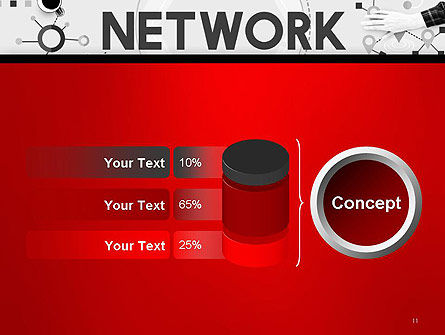 Network Communication Connection PowerPoint Template Slide 11