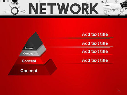 Network Communication Connection PowerPoint Template Slide 12