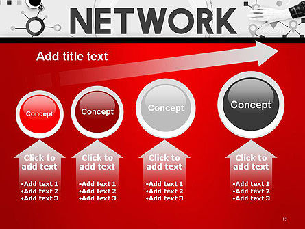 Network Communication Connection PowerPoint Template Slide 13