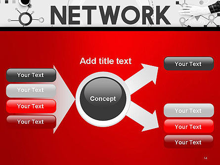 Network Communication Connection PowerPoint Template Slide 14