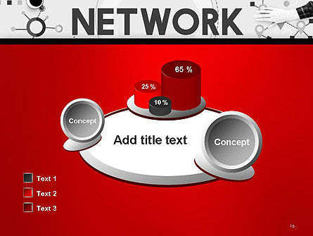 Network Communication Connection PowerPoint Template Slide 16