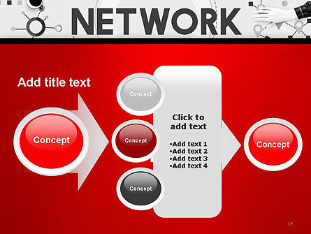 Network Communication Connection PowerPoint Template Slide 17