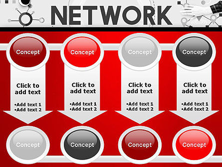 Network Communication Connection PowerPoint Template Slide 18