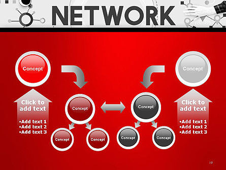 Network Communication Connection PowerPoint Template Slide 19