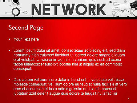 Network Communication Connection PowerPoint Template, Slide 2, 14381, Technology and Science — PoweredTemplate.com