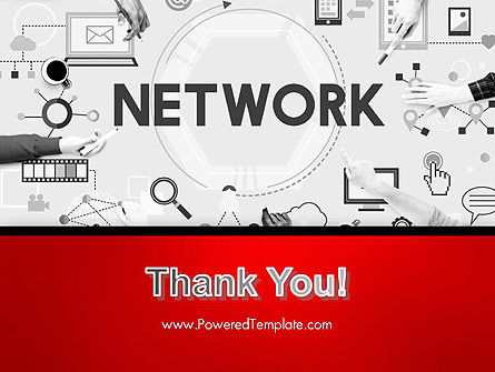 Network Communication Connection PowerPoint Template Slide 20