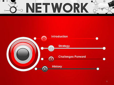 Network Communication Connection PowerPoint Template, Slide 3, 14381, Technology and Science — PoweredTemplate.com