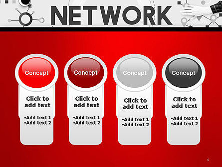 Network Communication Connection PowerPoint Template Slide 5
