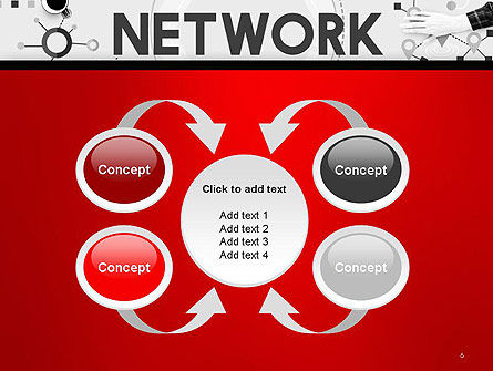 Network Communication Connection PowerPoint Template Slide 6