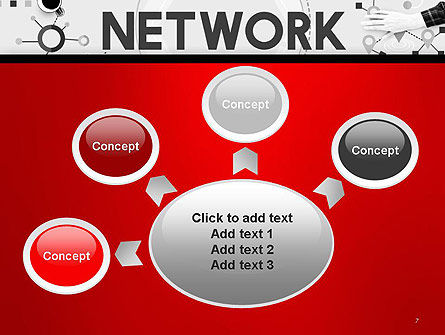 Network Communication Connection PowerPoint Template Slide 7