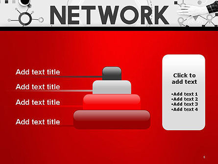 Network Communication Connection PowerPoint Template Slide 8