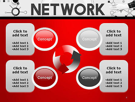 Network Communication Connection PowerPoint Template Slide 9