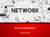 Technology and Science: Network Communication Connection PowerPoint Template #14381