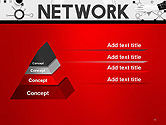 Network Communication Connection PowerPoint Template#12