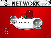 Network Communication Connection PowerPoint Template#16