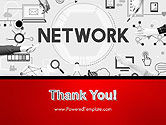 Network Communication Connection PowerPoint Template#20