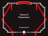 Education & Training: Certificate Border and Stamp PowerPoint Template #14382