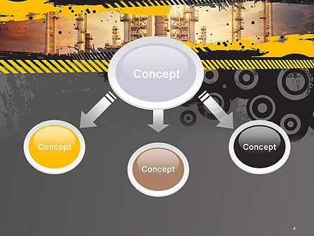 Exterior Tube of Petrochemical Plant PowerPoint Template, Slide 4, 14384, Utilities/Industrial — PoweredTemplate.com