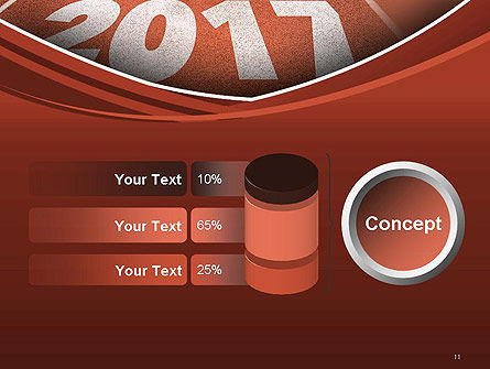 2017 Numbers on Running Track PowerPoint Template Slide 11