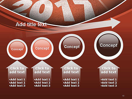2017 Numbers on Running Track PowerPoint Template Slide 13
