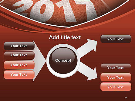 2017 Numbers on Running Track PowerPoint Template Slide 14