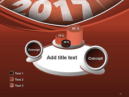 2017 Numbers on Running Track PowerPoint Template Slide 16