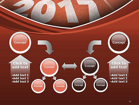 2017 Numbers on Running Track PowerPoint Template Slide 19