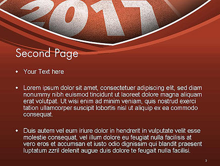 2017 Numbers on Running Track PowerPoint Template Slide 2