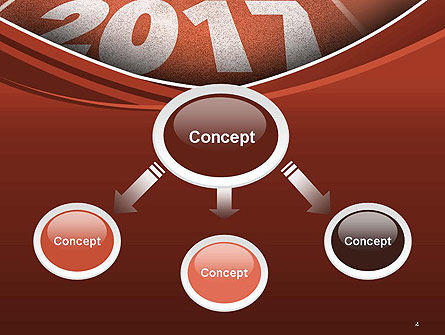 2017 Numbers on Running Track PowerPoint Template Slide 4