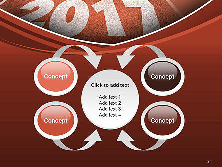 2017 Numbers on Running Track PowerPoint Template Slide 6