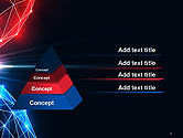 Two Spheres Collision Abstract PowerPoint Template#12