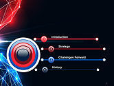 Two Spheres Collision Abstract PowerPoint Template#3
