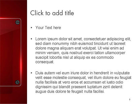 Glass Plate on Red Background PowerPoint Template, Slide 3, 14387, Abstract/Textures — PoweredTemplate.com