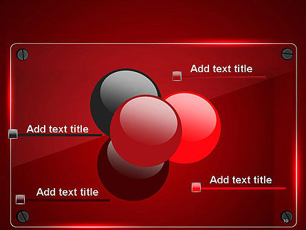 Glass Plate on Red Background PowerPoint Template Slide 10