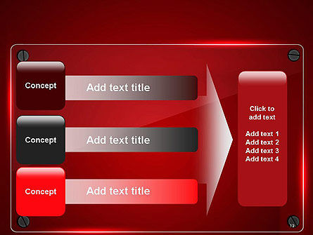 Glass Plate on Red Background PowerPoint Template Slide 12
